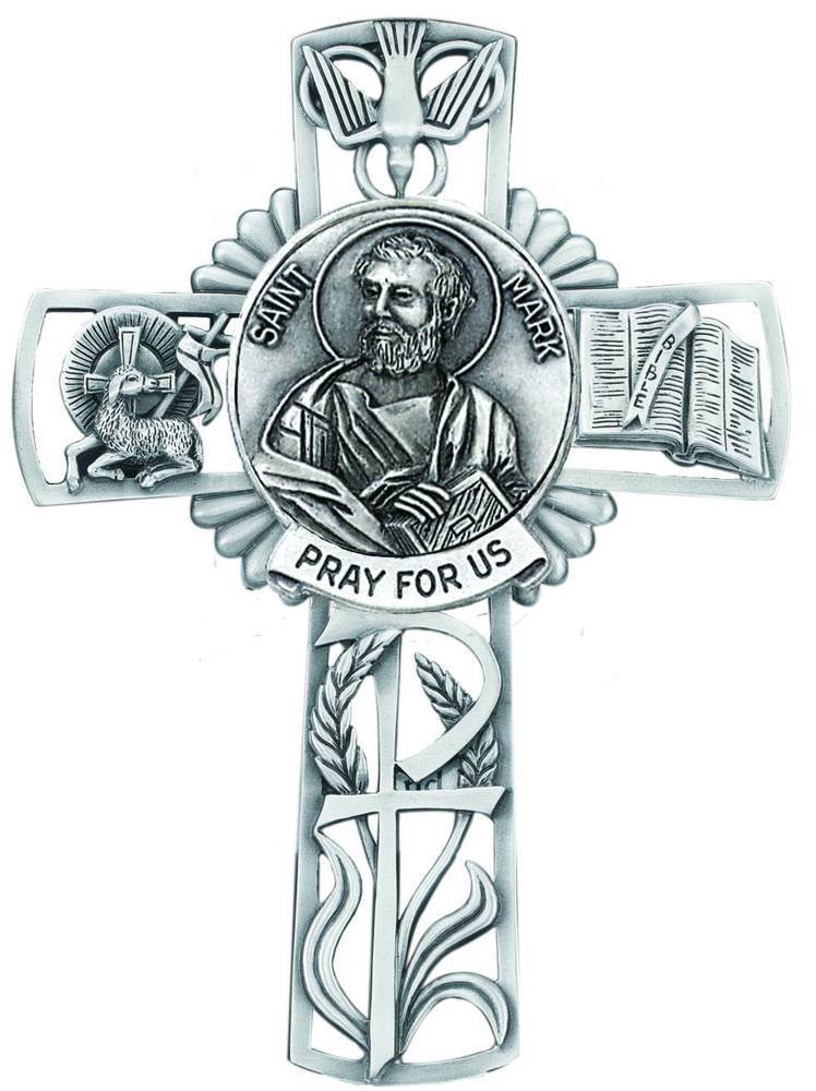St. Mark Pewter Wall Cross