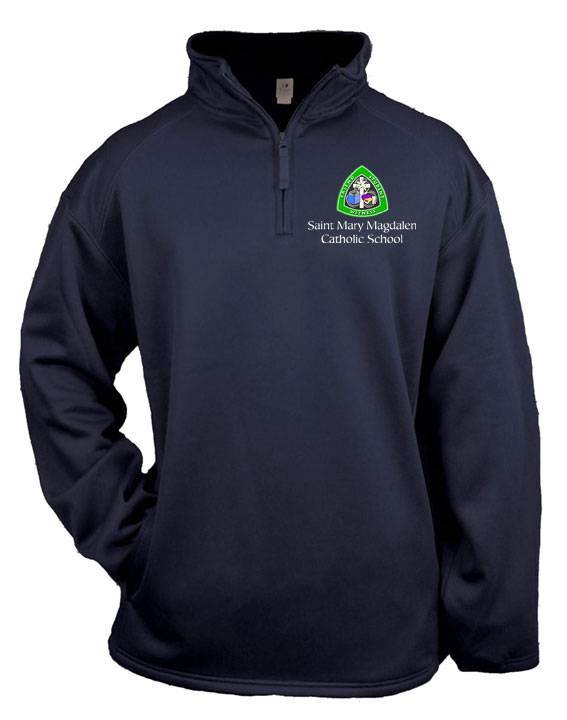 St. Mary Magdalen Performance Fleece Quarter Zip, Navy