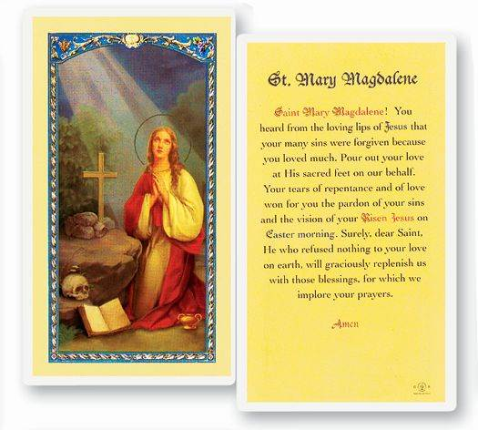 St. Mary Magdalene Laminated Prayer Card