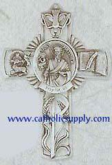 St. Matthew Pewter Wall Cross
