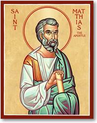 "St. Matthias 3"" x 4"" Icon Plaque"