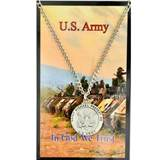 "St. Michael Army Pewter Medal on 24"" Chain"