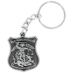 St. Michael Shield Keychain FREE ENGRAVING + SHIPPING!