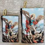 St. Michael Woven Rosary Pouch from Turkey