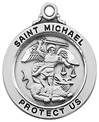 "St. Michael Sterling Silver Medal on 20"" Chain"
