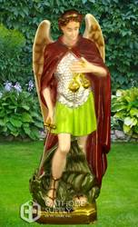 "St. Michael The Archangel 24"" Statue, Colored"