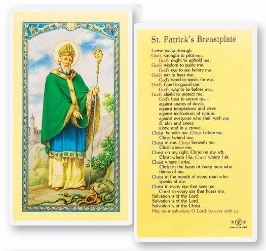 St. Patrick Breastplate Holy Card
