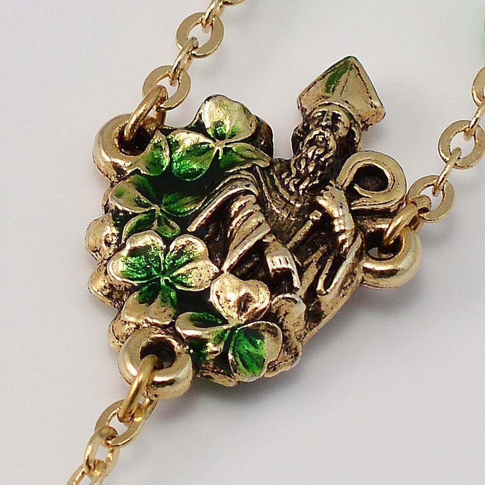 St. Patrick Gold Plated Rosary