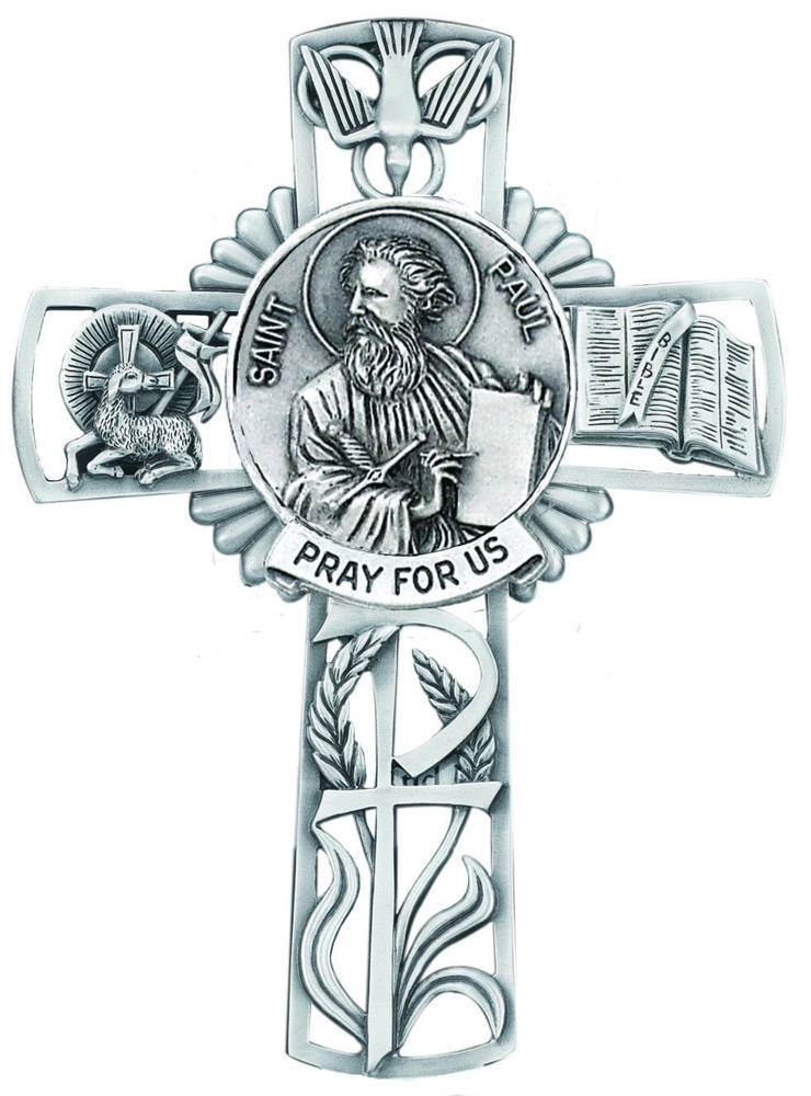 St. Paul Pewter Wall Cross
