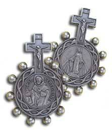 St Peregrine Cancer Rosary Pocket Token