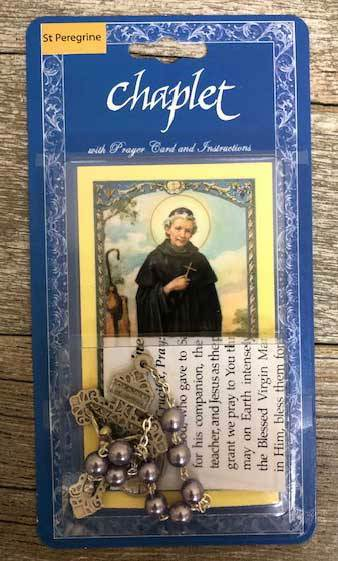 St Peregrine Chaplet with Holy Card