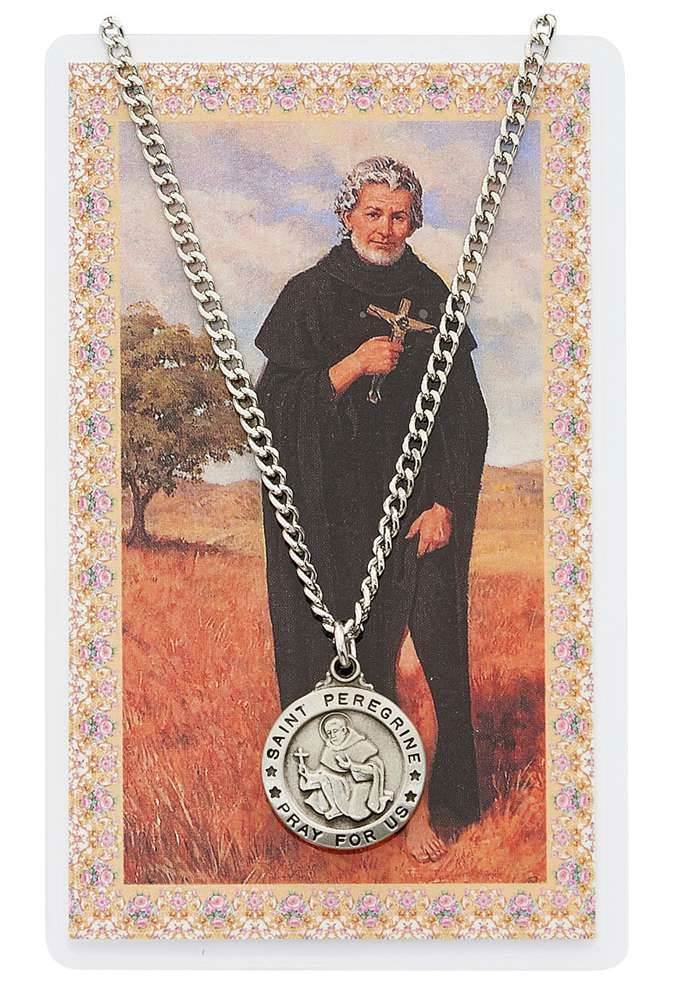 St Peregrine Necklace and Prayer Card Set