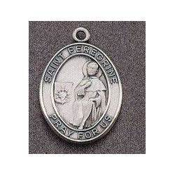 St. Peregrine Oval Medal on Chain
