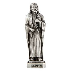 "St. Peter 3.5"" Pewter Statue"
