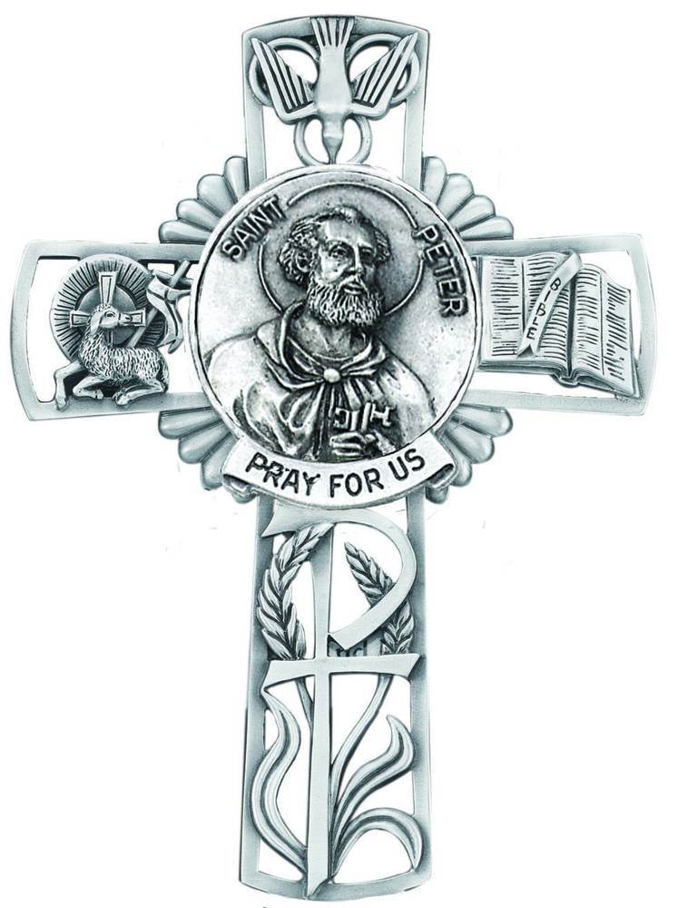 St. Peter Pewter Wall Cross