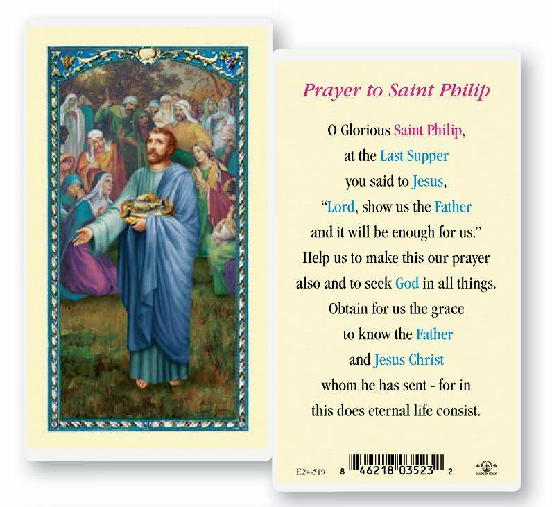 St. Philip Holy Card