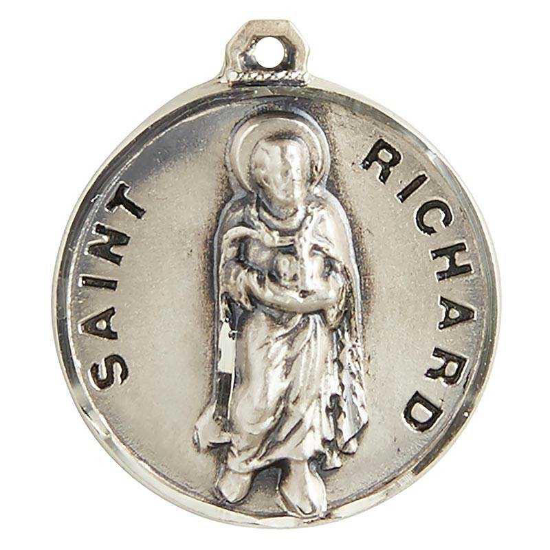 "St. Richard Sterling Silver Pendant on 20"" Chain"