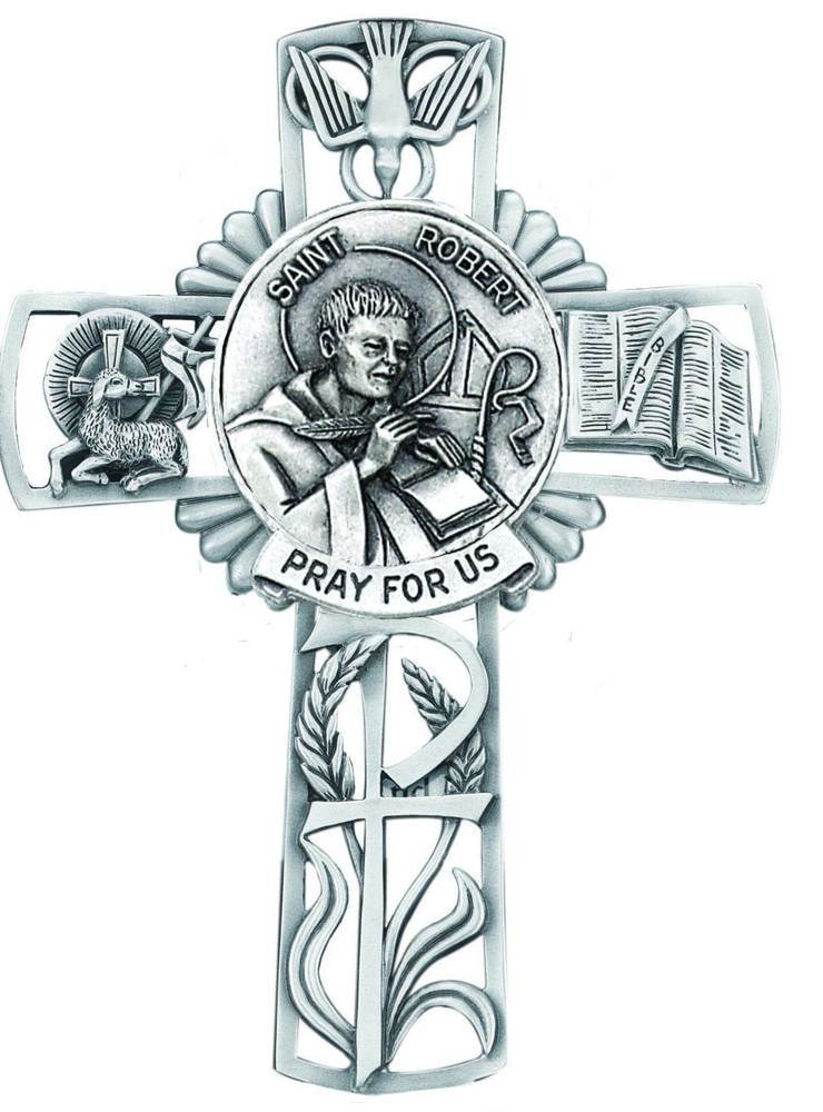 St. Robert Pewter Wall Cross