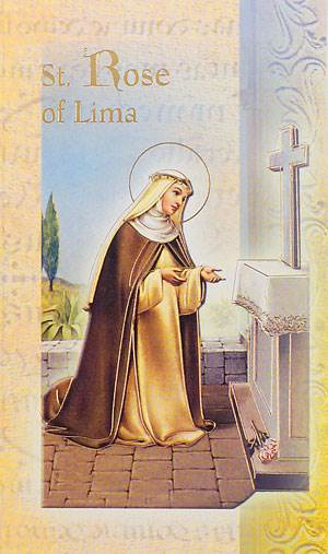 St. Rose of Lima Biography Card