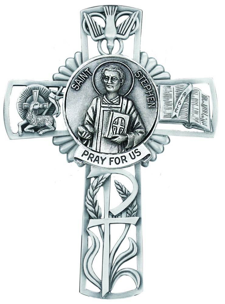 St. Stephen Pewter Wall Cross