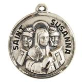 "St. Susanna Sterling Silver Pendant on 18"" Chain"