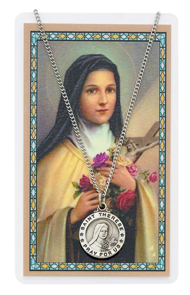 St Therese Pendant & Holy Card