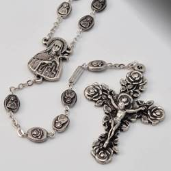 St. Therese of Lisieux Silver Plated Rosary