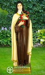 "St. Therese the Little Flower Full Color 24"" Vinyl Indoor/Outdoor Statue"