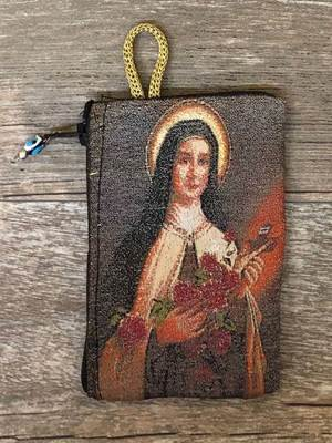 St. Therese the Little Flower Rosary Pouch from Turkey