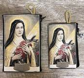 St. Therese the Little Flower Woven Pouch from Turkey