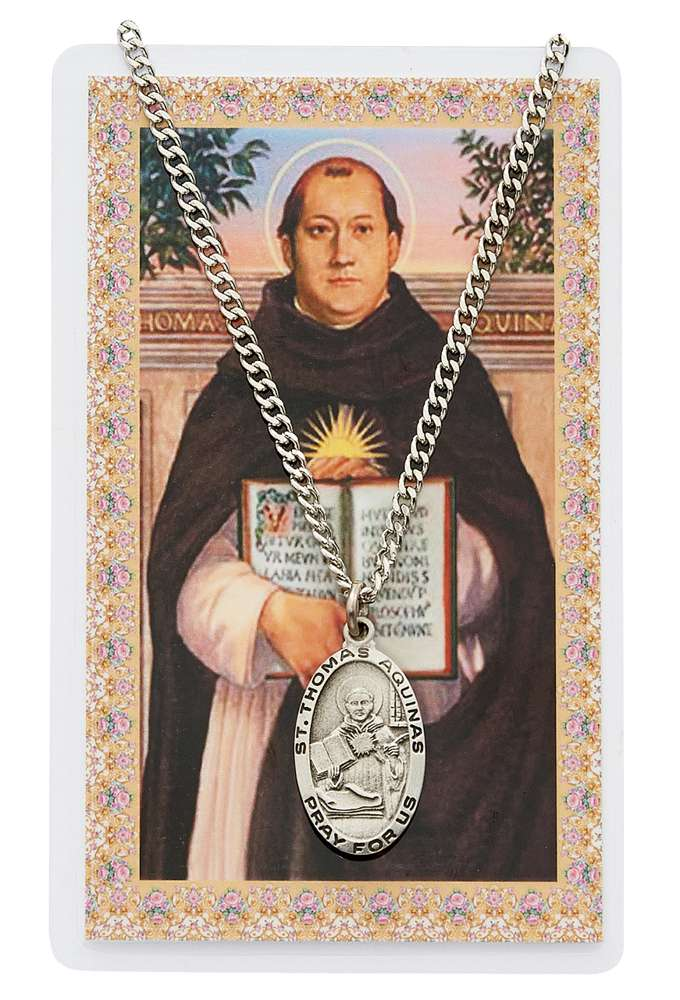St Thomas Aquinas Pendant & Holy Card