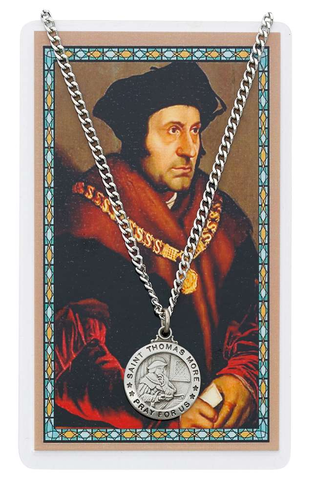 St. Thomas More Pendant & Holy Card Set