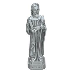 "St. Thomas the Apostle 3.5"" Pewter Statue"