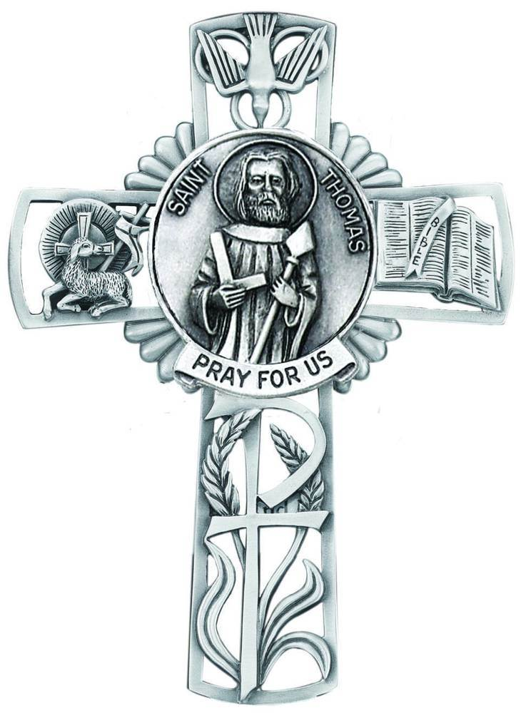St. Thomas the Apostle Pewter Wall Cross