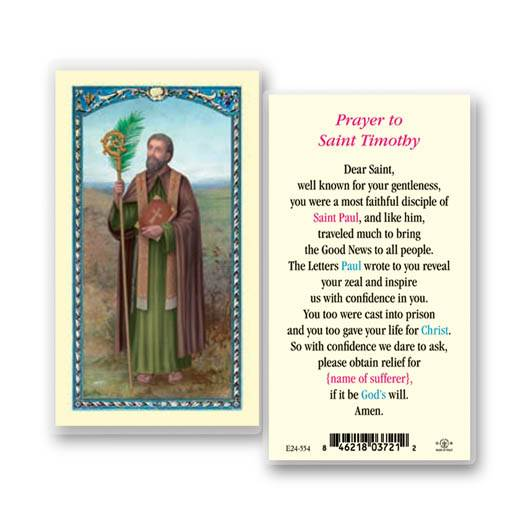 St. Timothy Holy Card