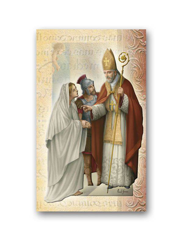 "?BIOGRAPHY OF SAINT VALENTINE  3.375"" x 3.25"" Saint Biography, Prayer Pamphlet"