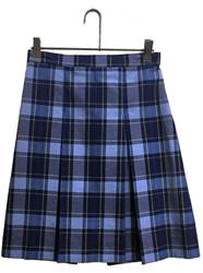 #57 Plaid Box Pleat Uniform Skirt