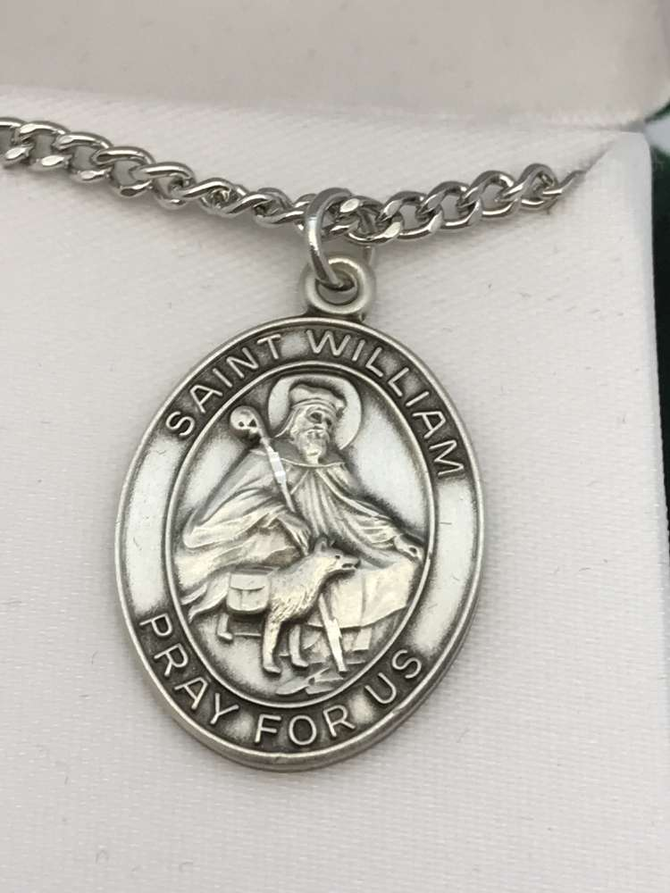 St. William Oval Medal on Chain