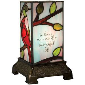 Stained Glass 'In Loving Memory' Lamp