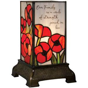 Stained Glass 'Our Family/Circle of Strength' Lamp
