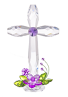 "Standing Acrylic Floral Cross, 7.5"" tall *WHILE SUPPLIES LAST*"