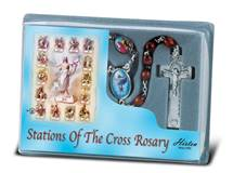 Stations of the Cross Brown Wood Bead Rosary