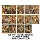 21STA80 Stations of the Cross, Set of 14