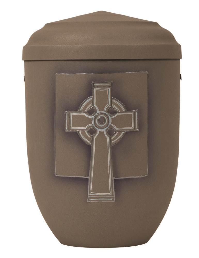 Steel Urn with Celtic Cross