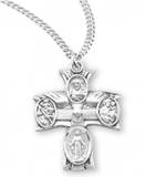 "Sterling Holy Spirit 4-Way On 20"" Chain"