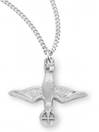 "Sterling Holy Spirit with Cross on 18"" Chain"