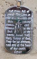 "Sterling Silver 1.75"" Hail Mary Medal*WHILE SUPPLIES LAST*"