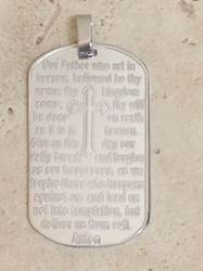 "Sterling Silver 1.75"" Our Father Medal*WHILE SUPPLIES LAST*"