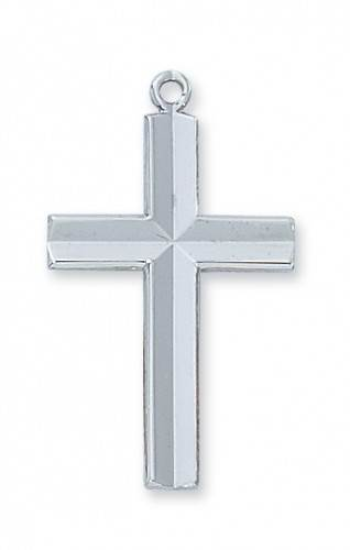 Sterling Silver Beveled Cross