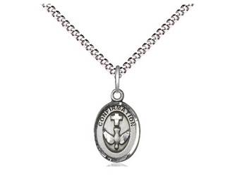 "Sterling Silver Confirmation Pendant on 18"" Chain"